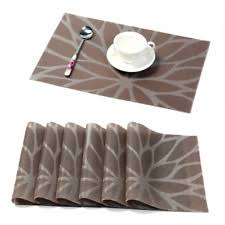 Placemats For Round Table Vinyl Round Placemats Ebay