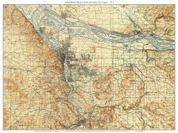 map of just oregon portland and oregon city 1914 topographic map usgs