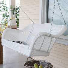 Vinyl Wicker Patio Furniture - coral coast casco bay resin wicker porch swing with optional