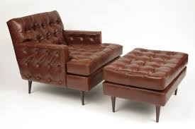 modern chair with ottoman modern ideas awesome edward wormley for dunbar leather chair ottoman