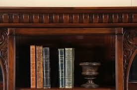 antique bookcase glass doors sold victorian 1890 antique cherry triple bookcase beveled
