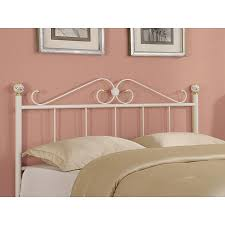 White Iron Headboard Beautiful White Iron Headboard White Queenfull Size Gold Accented