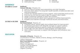 Example Resume Waitress by Dietitian Resume Sample Reentrycorps