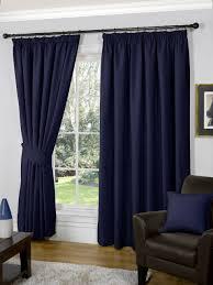 navy blue colour plain stylish designer heavy chenille curtains