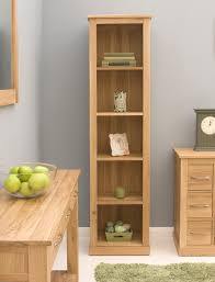 Bookcase Narrow by Conran Solid Oak Modern Furniture Narrow Living Room Office