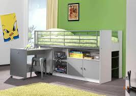 lit mezzanine combiné bureau lit combiné enfant contemporain blanc gris bunny lit surélevé