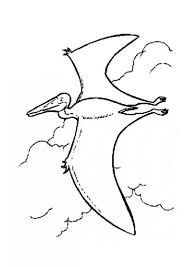 coloring pictures of flying dinosaurs dinosaur pterodactyl