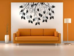bedroom wall design ideas beautiful flower background paint with