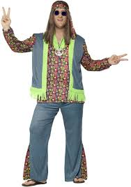 Size Hippie Halloween Costumes Mens 60s Size Hippie Costume