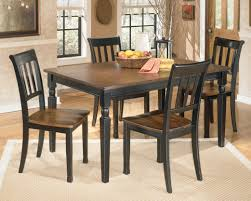 signature design by ashley owingsville 5 piece rectangular dining