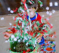 inspired rudolph the nosed reindeer sensory bin