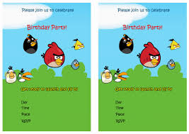 free printable angry birds birthday party invitations birthday