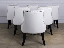 White Leather Dining Chairs Modern Furnitures White Leather Dining Chairs White Leather