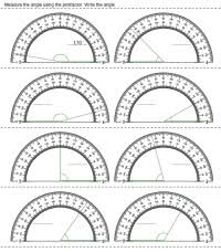 protractor printables worksheets and lessons