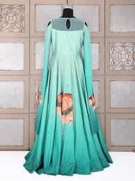 pista green color silk anarkali suit g3 wgo0819 g3fashion com