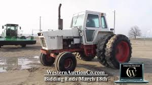 lot 30 case agri king 1370 farm tractor youtube