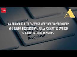 is cv what is cv builder