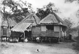 a typical nipa hut home in the countryside cool in the dry