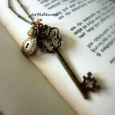 vintage key necklace images Shop skeleton key and lock on wanelo jpg