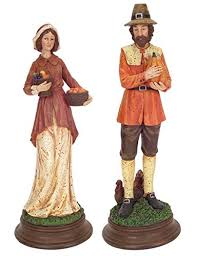 thanksgiving pilgrim statues thanksgiving pilgrim couples figurines page two thanksgiving wikii