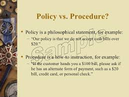 how to write a policy u0026 procedure manual