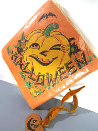 30 vintage halloween napkins sealed jack o lantern pumpkin