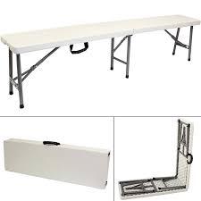 6 ft portable folding table hartleys 6ft portable folding bench picnic cing garden party