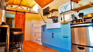 Luxury Tiny Homes by Gorgeous Luxury Tiny House With A Full Kitchen Big Deck Youtube