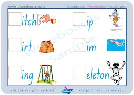 phonic consonant blends nsw foundation font writeboards