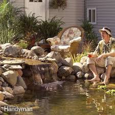 Waterfall In Backyard Backyard Ponds The Family Handyman
