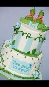 twin baby shower cake if boy u0027s blue if u0027s pink u0026 if one of