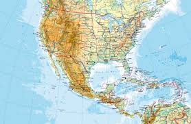 united states of america map with states and capitals maps united states and central america physical map diercke