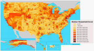 Map United State Of America by Usa Income Map United States Of America U2022 Mappery