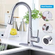 kitchen faucets pull down costway rakuten costway motion sense touchless kitchen faucet