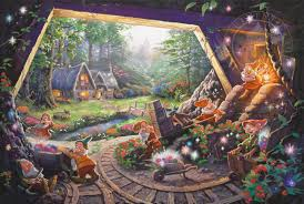 cottages the thomas kinkade company snow white and the seven dwarfs