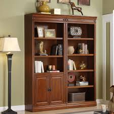 Wooden Bookcase With Doors Gl Door Bookshelf Bookcase White Bookcase With Gl Doors And