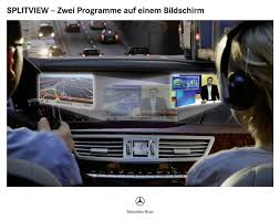 mercedes benz introduces new splitview comand display for the s