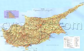 Map Driving Directions Map Of North Cyprus Road And Street Maps Of Kyrenia Famagusta