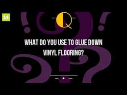 what do you use to glue vinyl flooring