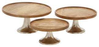 metal cake stand bonnie wood and metal cake plates set of 3 contemporary