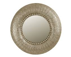 decor bold style metal round mirror for prominent walls