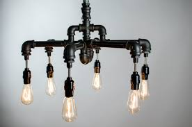 Hanging Industrial Lights by Lighting Hand Crafted 6 Edison Bulbs Industrial Chandelier With