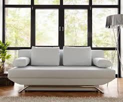 sofa weiãÿ gã nstig bettsofa cady weiss 200x90 cm schlaffunktion und bettkasten schlafsofa