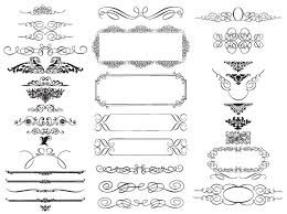 20 free set of ornaments vector resources
