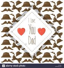 nice card of fathers day celebration stock vector art