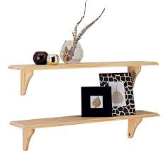 Wooden Shelves Pics by Buy Home 89cm Set Of 2 Wooden Shelves Unfinished Pine At Argos