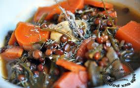 cuisiner le navet recette soupe de lentilles carottes et feuilles de navet fenouil