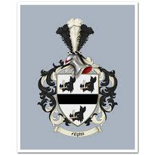 family crest coat of arms ready to frame print