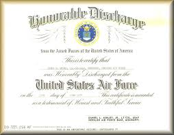 honorable discharge certificate replacement honorable discharge certificate air enlisted