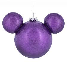 mickey mouse icon ornament purple shopdisney